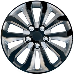 "15"" Universal Gloss Black / Silver Wheel Cover"