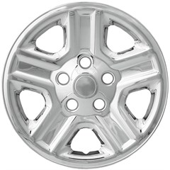 "WHEEL SKIN SET, 16"" JEEP WRANGLER 2007-16, CHROME"