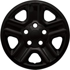 "WHEEL SKIN SET, 16"" JEEP WRANGLER 2007-16, GLOSS BLACK"