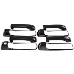 DOOR HANDLE SET, JEEP COMM/GRND CHER/RAM GLOSS BLK