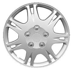 "WHEEL COVER SET - 14"" Rattler - Silver/Met (6)"