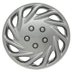 "WHEEL COVER SET - 15"" Amazon - Silver (6)"