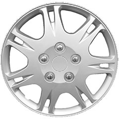 "WHEEL COVER SET - 15"" Rattler - Silver/Met (6)"