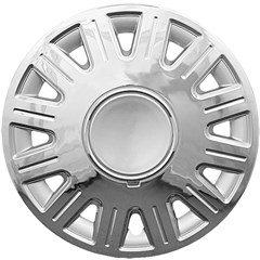 "WHEEL COVER SET - 16"" Crown Vic - Chrome/Silver (6)"