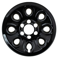 "WHEEL SKIN SET, 17"" CHEVY 1500 2005-14, SIERRA 1500, SUBURBAN, TAHOE, YUKON, GLOSS BLACK"