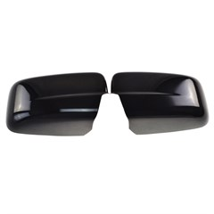 MIRROR COVERS, DODGE RAM 1500 2009-17, GLOSS BLACK W/O TURN SIGNAL