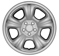 "WHEEL SKIN SET, 16"" SUBARU FORESTER 2003-07, CHROME"